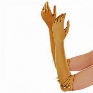 20's Flapper Gloves Gold. SKU 843955.