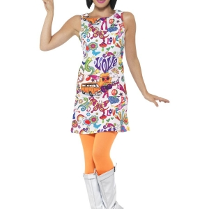 60's Groovy Chick Costume. SKU 44911.