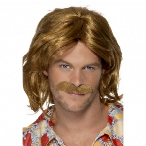 70's Super Trouper Wig & Moustach. SKU 42005.