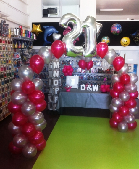 Balloon Arch with Big Numbers