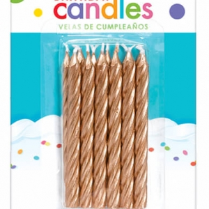Candle Rose Gold $3.99. Pack of 12 large spiral candles.