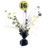 Black and Gold Centrepiece Balloon Weight