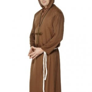 Smiffys Monk Costume brown with hooded robe and belt.Above all else, we believe in quality, and making your balloons last longer, look better, and bring you joy. We'll put your Balloon Bouquet in a carry bag to protect them and make moving them easier. Visit our Party Shop at 29 Electra Street, Bundaberg. We specialise in Wigs and Fancy Dress Costumes, Milestone Birthday balloons and decorations.