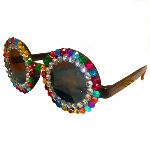 Glasses Jewelled Over the rainbow Jewelled for festivals, Mardi Gras, and costume Bundaberg parties.
