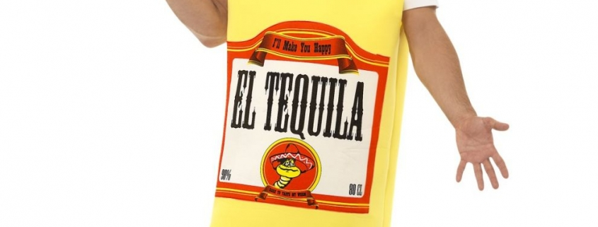 Smiffys Tequila Bottle costume Fiesta themed mexican party