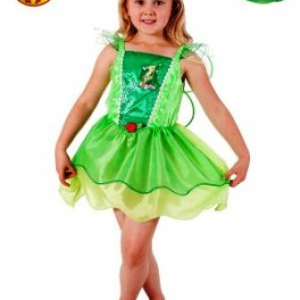 Disney Tinker Bell Fairy Dress with wings costume Rubies